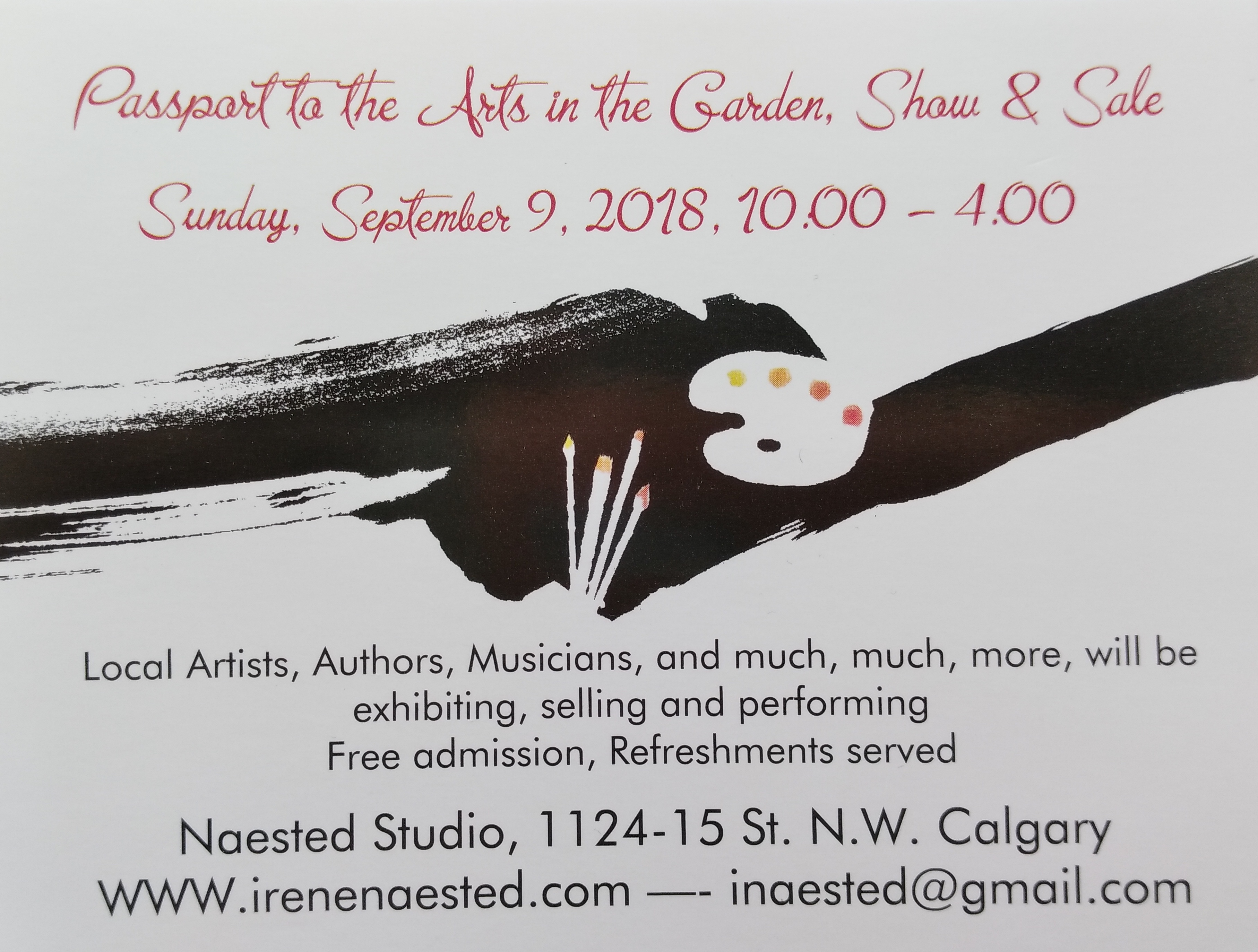 Passport to the Arts in the Garden Show & Sale, Sunday, Sept. 9, 2018