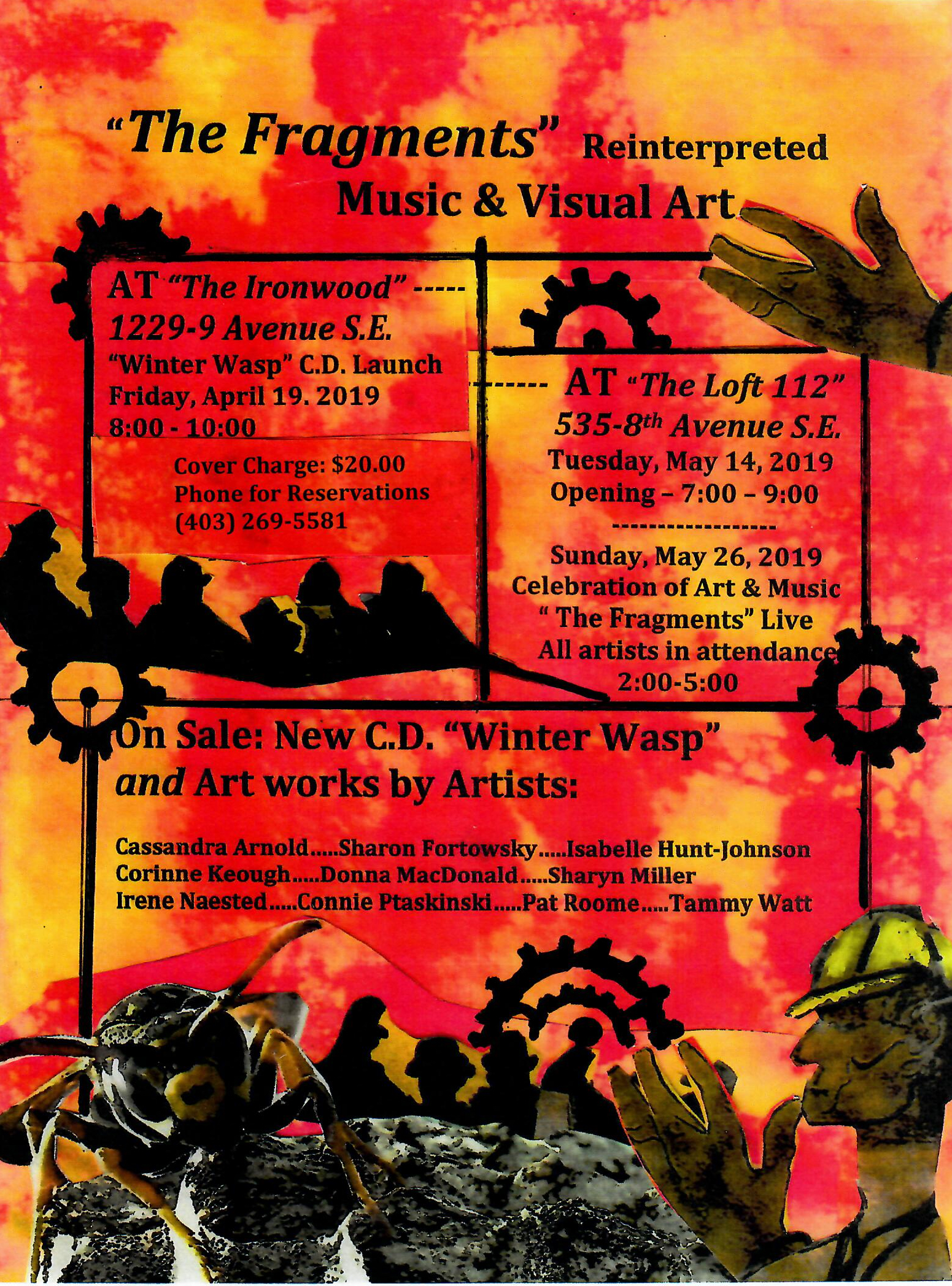 The Fragments Reinterpreted: Music and Art Events at the Loft 112, May, 14 & 26