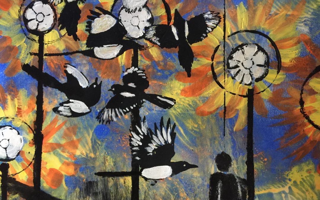 Magpies by Irene