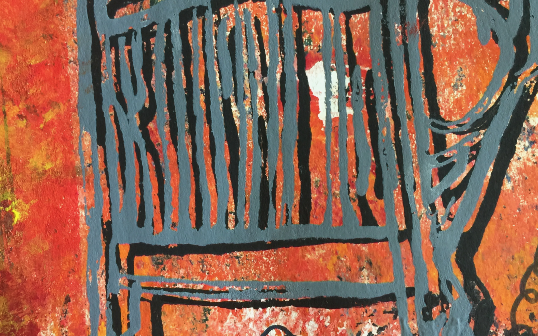 Corinne Keough reinterprets 'Getting Up Today' through mixed media painting